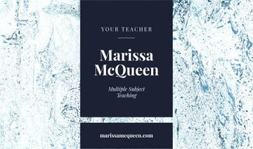 Teacher Services Ad with Marble Texture in Blue
