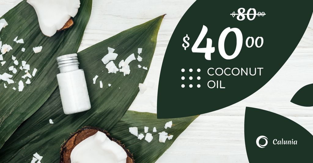 Cosmetics Offer with Natural Oil in Bottles — Создать дизайн