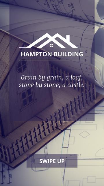 Plantilla de diseño de Real Estate Offer with toy House Instagram Story