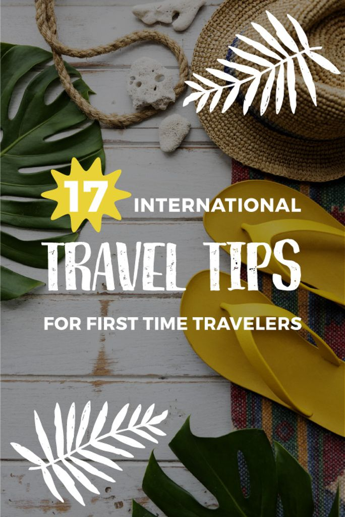 International travel tips poster — Créer un visuel