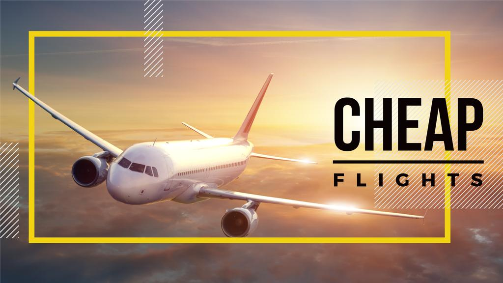 Cheap flights advertisement — Створити дизайн