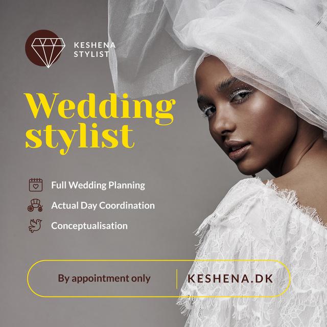 Modèle de visuel Wedding Services Promotion Woman in White Dress - Instagram