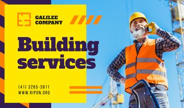 Building Services Worker on Construction Site