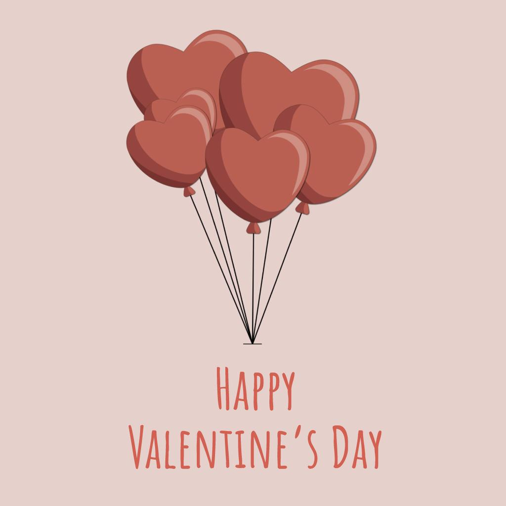 Valentines Bunch of heart-shaped Balloons  — Create a Design