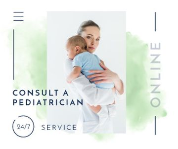 Pediatrician Consultation Service Mother Holding Baby