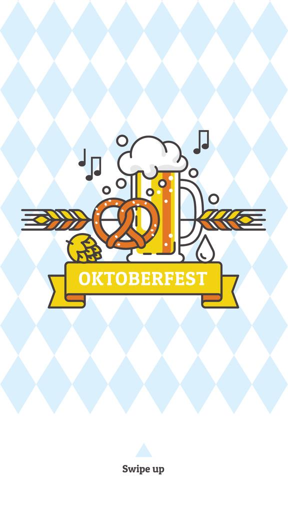 Traditional Oktoberfest treat and beer — Modelo de projeto