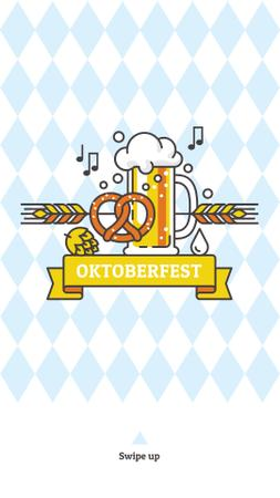 Traditional Oktoberfest treat and beer Instagram Story Modelo de Design