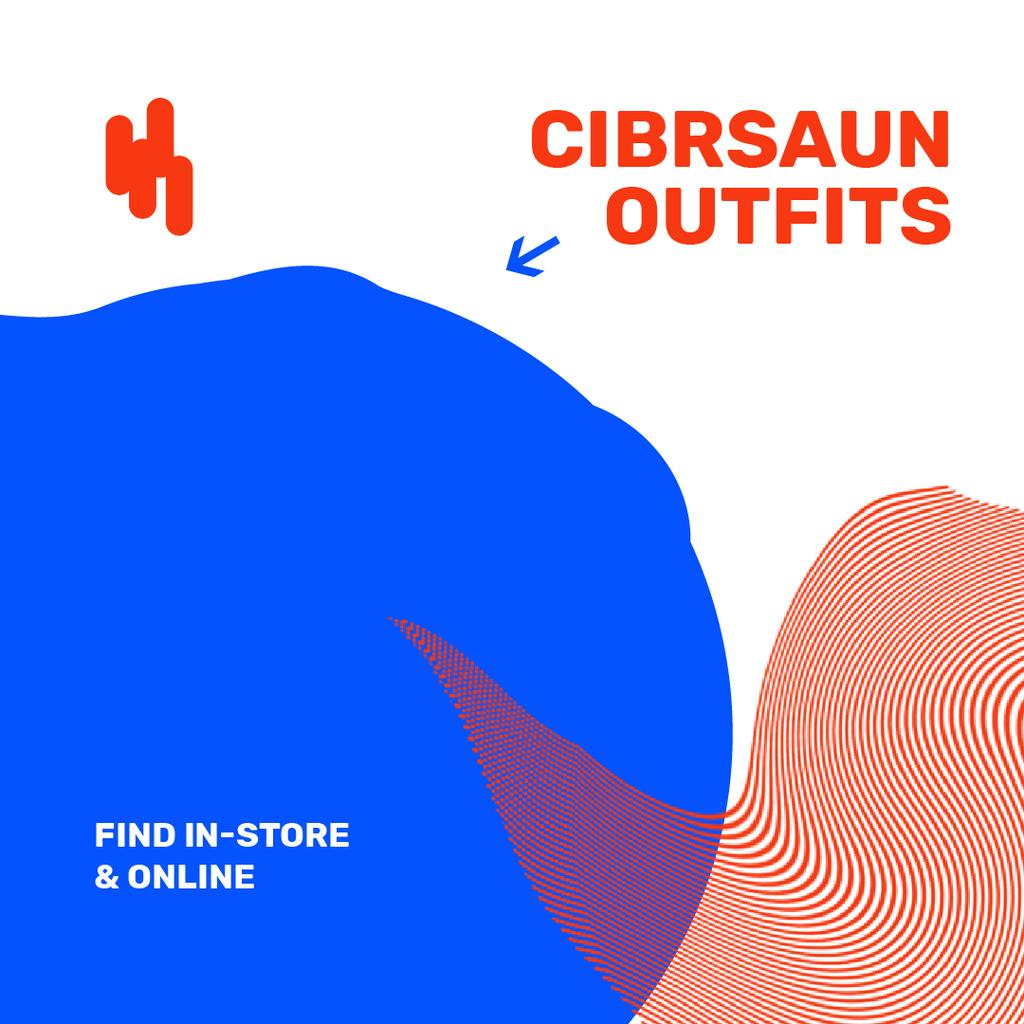 Fashion Store Ad on digital Textures — Crea un design