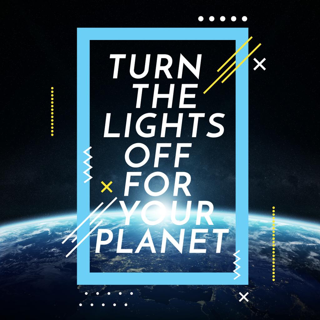 Earth hour with Planet in Space — Maak een ontwerp