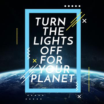 Earth hour with Planet in Space