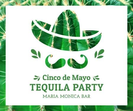 Cinco de Mayo tequila Party announcement Facebook Modelo de Design