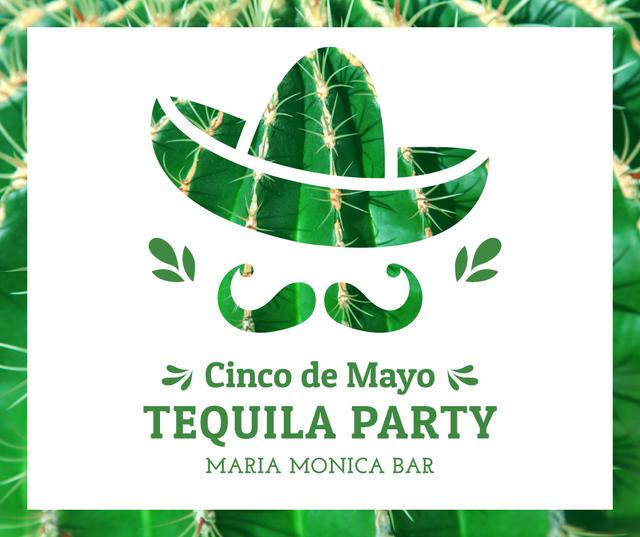 Cinco de Mayo tequila Party announcement Facebook Modelo de Design