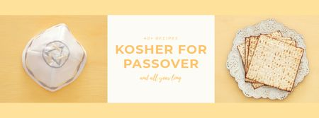 Ontwerpsjabloon van Facebook Video cover van Happy Passover Celebration Attributes