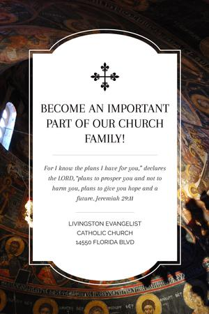 Template di design Church Invitation Old Cathedral View Tumblr