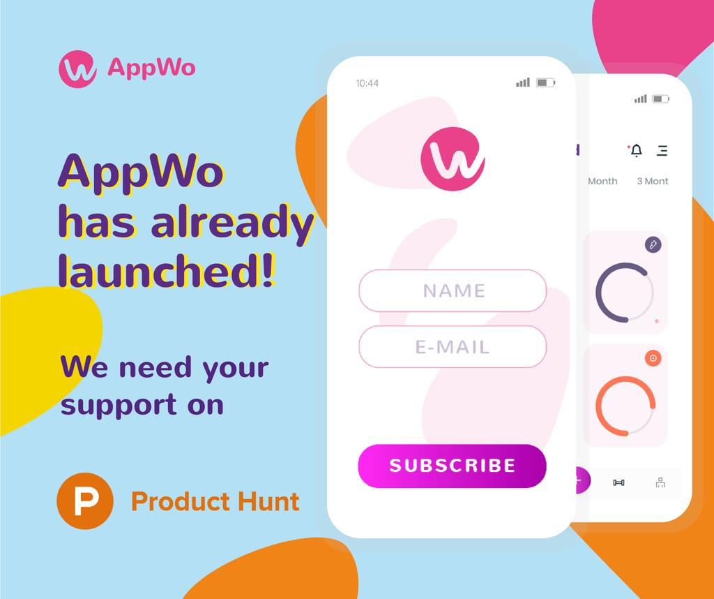 Product Hunt Promotion Login Page on Screen | Facebook Post Template — Створити дизайн