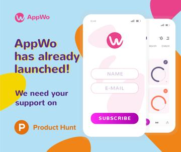 Product Hunt Promotion Login Page on Screen | Facebook Post Template
