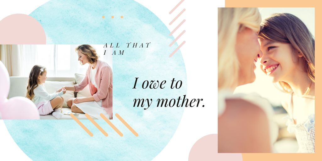 Happy mother with her daughter — Create a Design