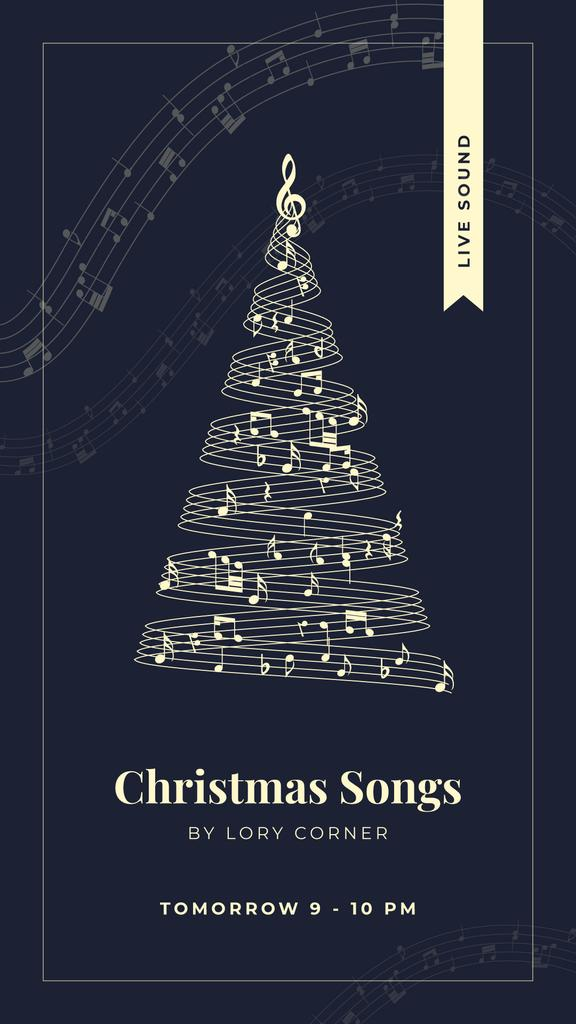Christmas tree with music notes — Crea un design