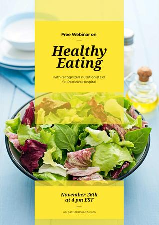 Free webinar on healthy eating Poster Modelo de Design