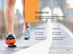 Charity Run Ad with Runner
