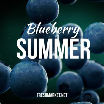 Raw blueberries falling down