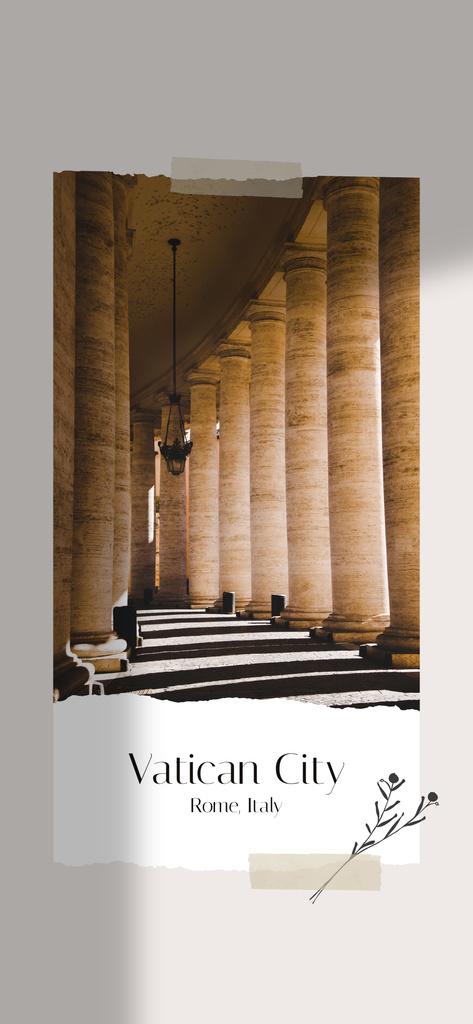 Ancient Vatican building Columns —デザインを作成する