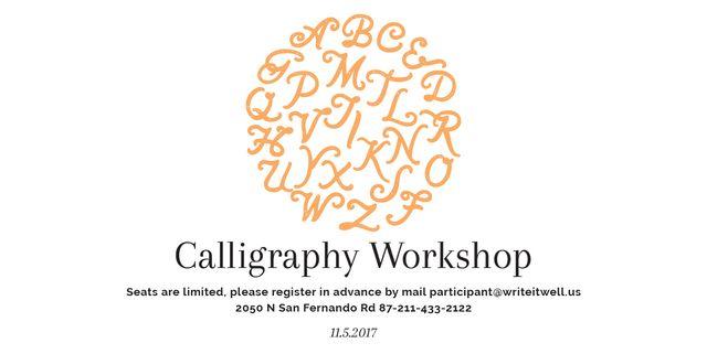 Calligraphy workshop poster Imageデザインテンプレート