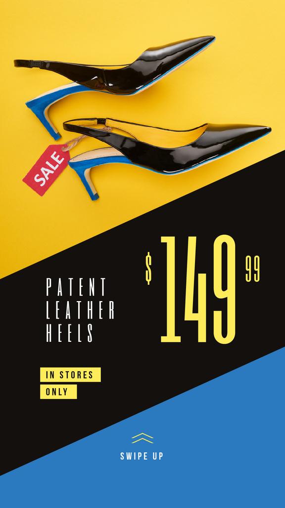 Female Fashionable Heeled Shoes Sale — Створити дизайн