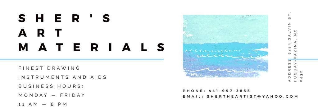Art Material Store ad with Sea Landscape — Create a Design