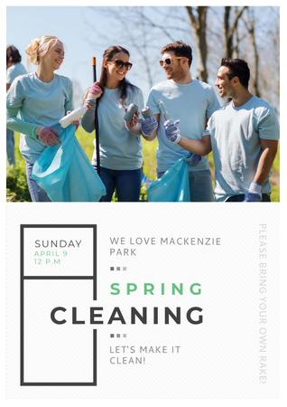 Spring Cleaning in Mackenzie park Posterデザインテンプレート