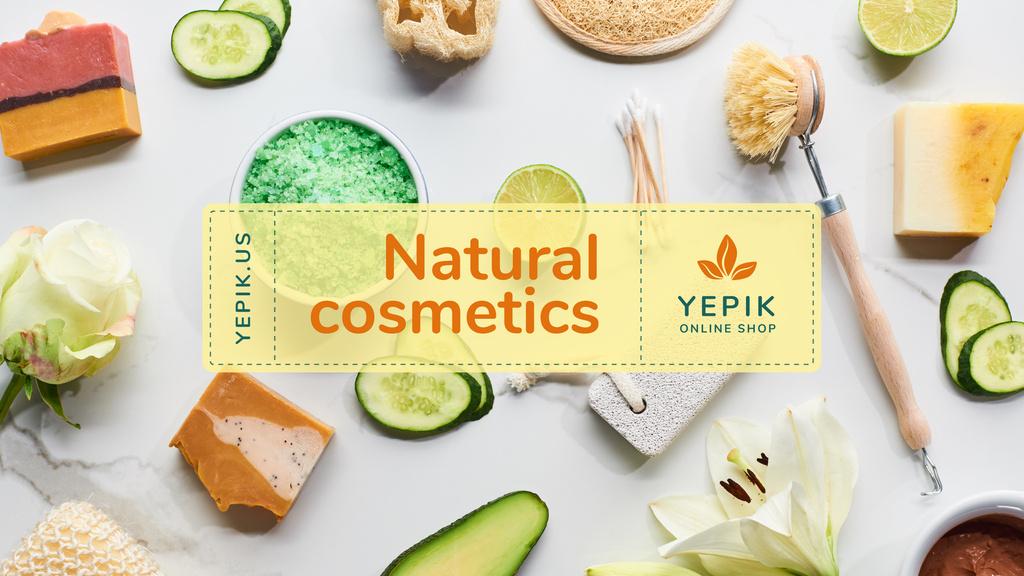 Natural Skincare Products Offer with Soap and Salt - Vytvořte návrh
