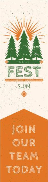 Forest fest banner Skyscraper – шаблон для дизайну