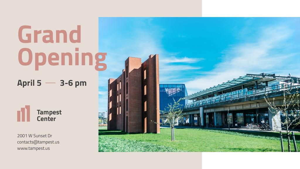 Business Center Grand Opening announcement FB event cover Tasarım Şablonu