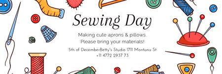 Plantilla de diseño de Sewing day event Email header