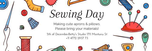 Sewing day event Email header Tasarım Şablonu