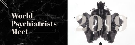 Plantilla de diseño de Rorschach test inkblot Twitter