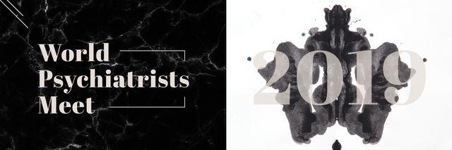 Template di design Rorschach test inkblot Twitter