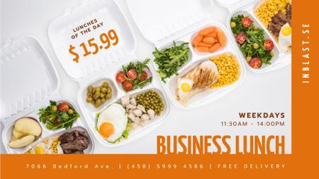 Healthy Business Lunch Offer FB event cover – шаблон для дизайна