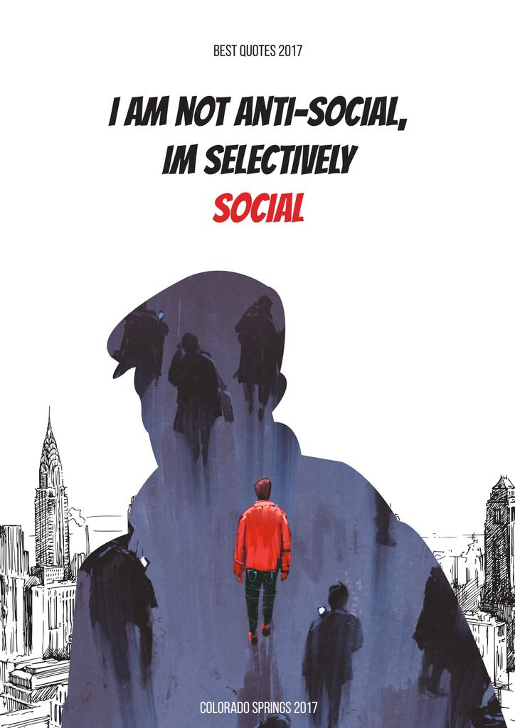 Social quote poster — Maak een ontwerp
