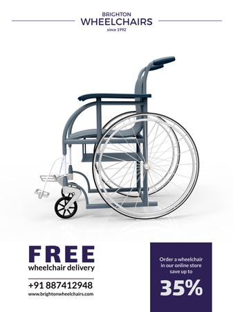 Wheelchairs store offer Poster US Modelo de Design