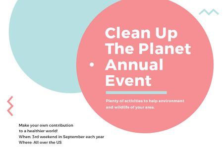 Template di design Ecological Event Simple Circles Frame Postcard