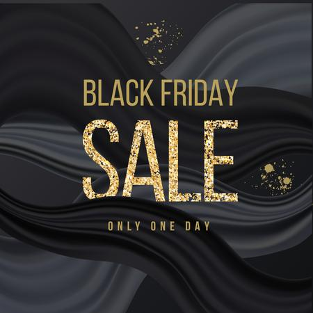 Black Friday sale announcement in glitter Instagram – шаблон для дизайну