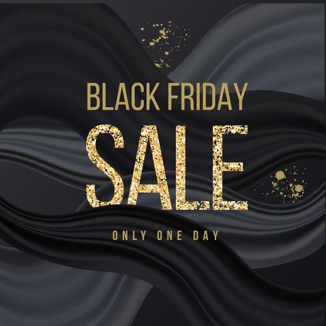 Plantilla de diseño de Black Friday sale announcement in glitter Instagram