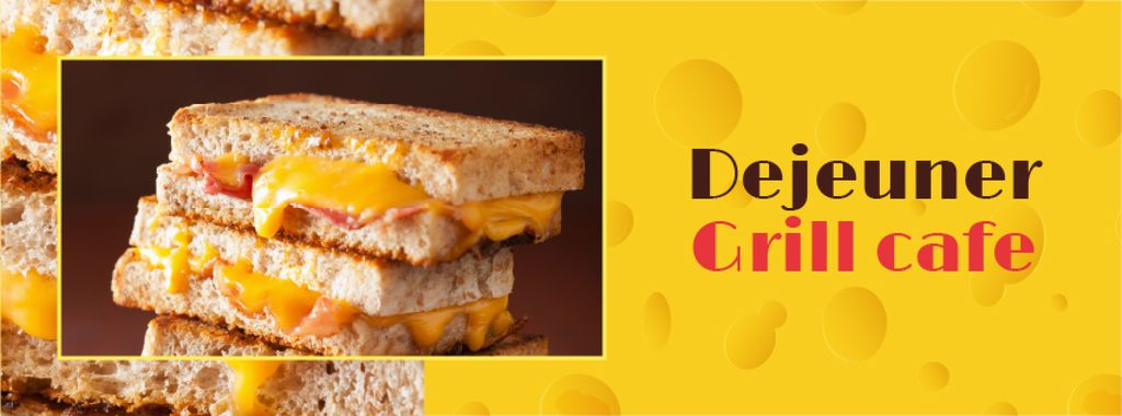 Grilled Cheese dish at Cafe — Maak een ontwerp