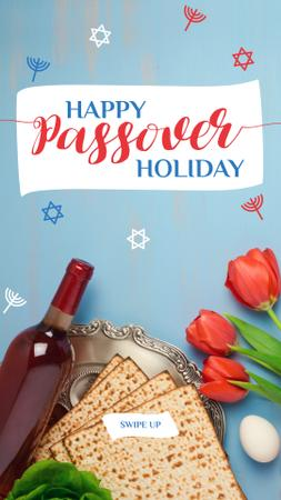 Designvorlage Happy Passover holiday Greeting für Instagram Story