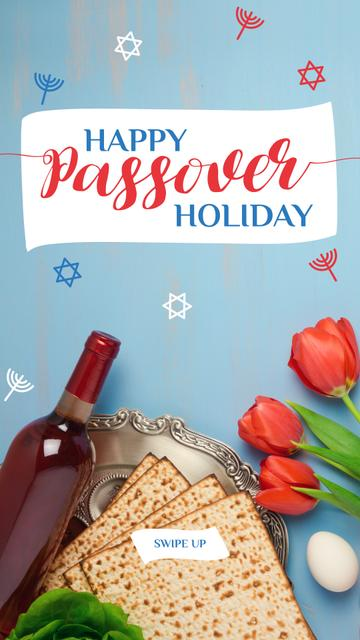 Happy Passover holiday Greeting Instagram Story Modelo de Design