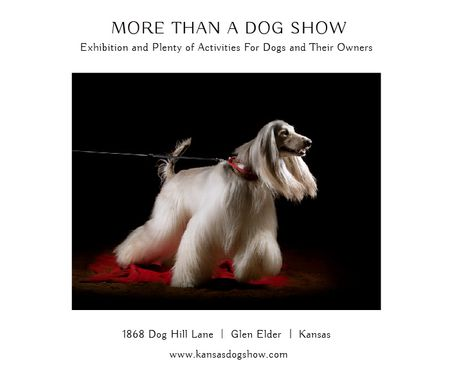 Ontwerpsjabloon van Large Rectangle van Dog Show in Kansas