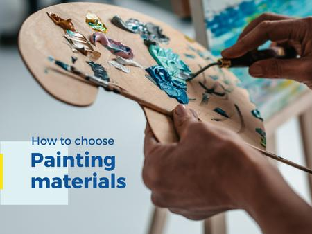 Painting materials Offer Presentation – шаблон для дизайна