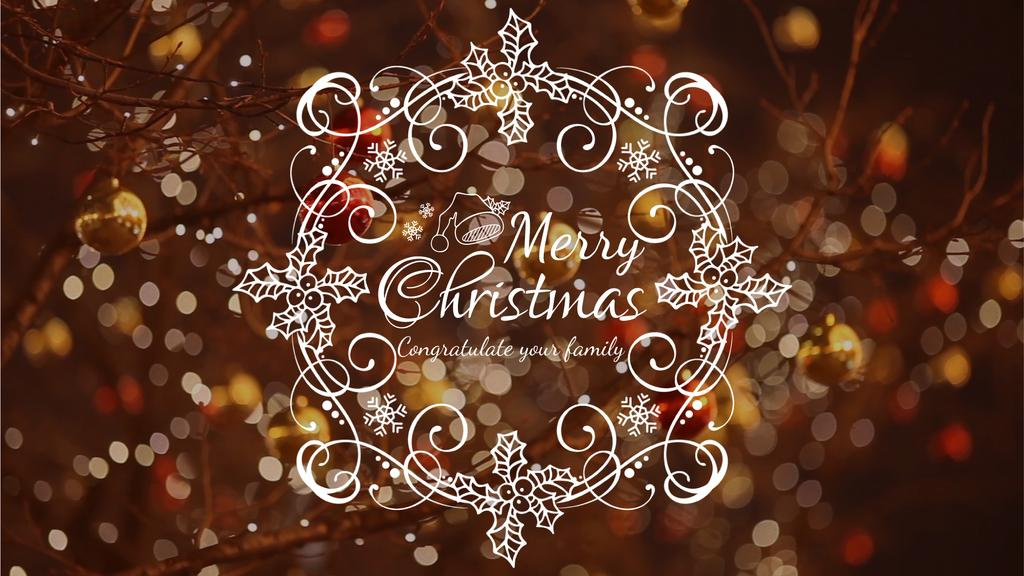 Shiny Christmas decorations — Create a Design