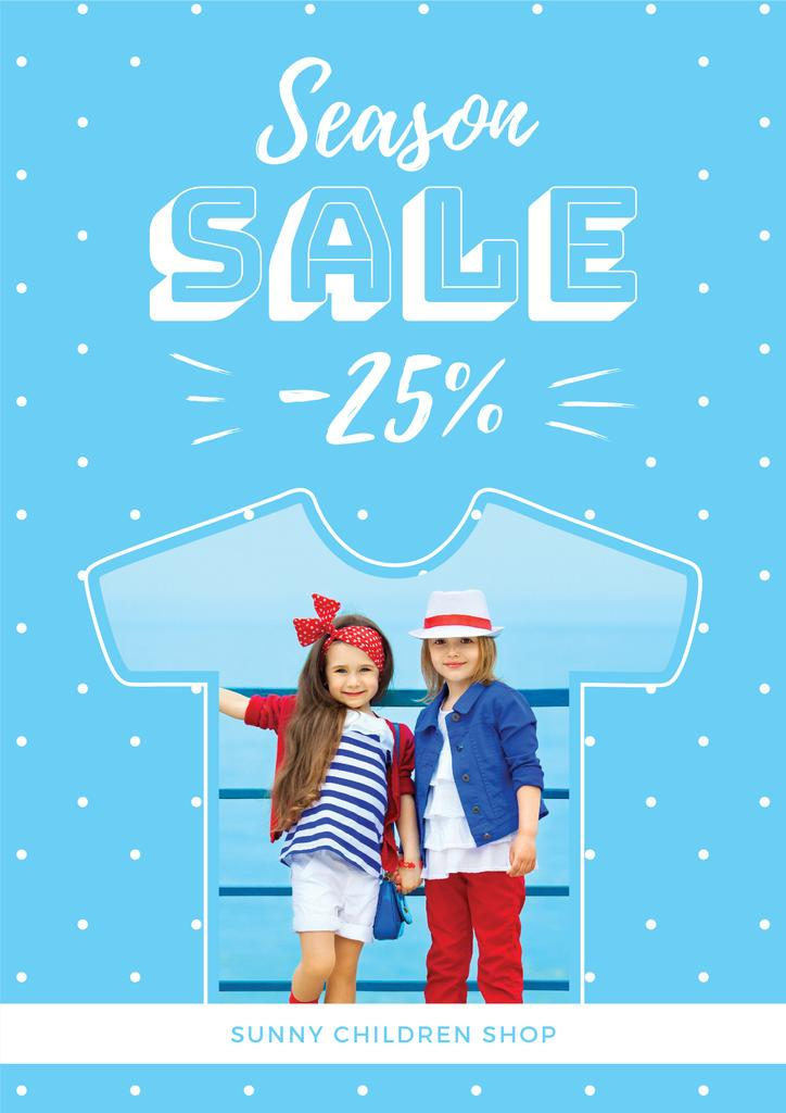 season sale banner with kids — Create a Design
